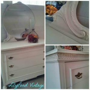 Custom Painted Vintage Dresser