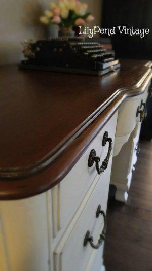 Vintage Painted Desk LilyPond Vintage