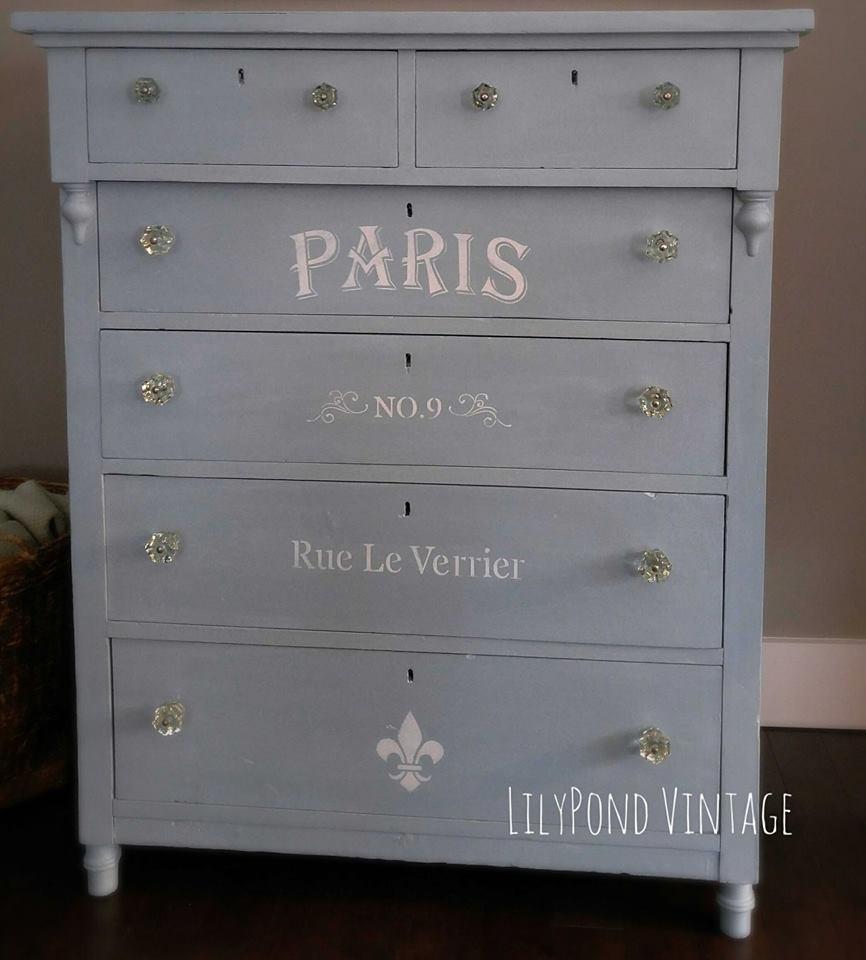 Painted Dresser LilyPond Vintage