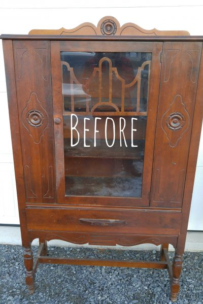 Before Image Vintage China Cabinet