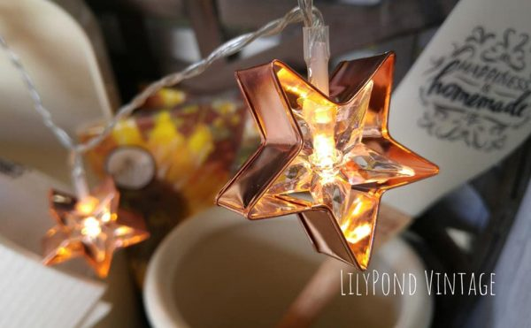 Copper Star Strand Lights